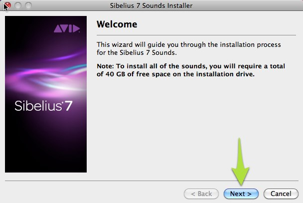 Sibelius 7 Sounds Installer